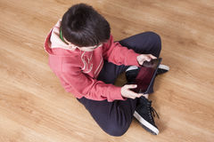 Child with tablet Royalty Free Stock Photography
