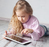 Child with tablet pc Stock Photos
