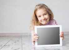 Child with tablet pc Royalty Free Stock Photos