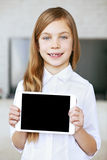 Child with tablet pc Royalty Free Stock Photo