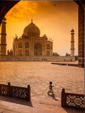 Child in Taj Mahal Royalty Free Stock Image