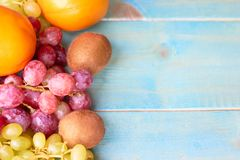 The child takes the fruit. The concept of a healthy diet royalty free stock images