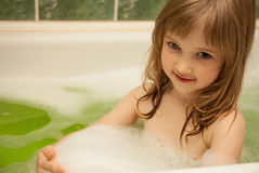 A child taking bath Royalty Free Stock Images