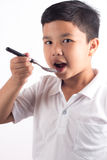 Child taking medication Stock Images