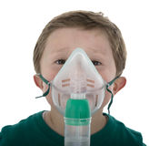Child taking respiratory therapy. Stock Image