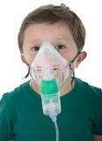 Child taking respiratory therapy. Stock Photo