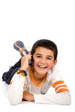Child talking on the phone Royalty Free Stock Photos