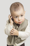 Child Talking by Phone Stock Photography