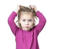 Child is tearing his hair Royalty Free Stock Photo