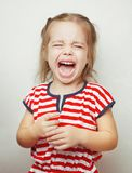 Child with tears falling down girls young face. loud cry of baby. Child with tears falling down girls young face, unhappy moments of life, young lady, upset of Royalty Free Stock Photos