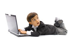 Child and Technology Royalty Free Stock Photography