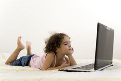 Child and Technology Stock Photo