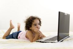 Child and Technology stock photos