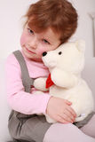 Child with teddy royalty free stock photos