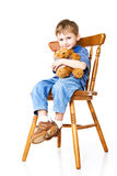 Child with a teddy bear Royalty Free Stock Image