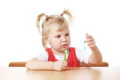 Child and teeth brush Stock Photography