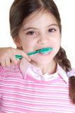 Child teeth brushing Stock Photos