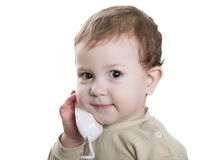 Child with telephone Stock Photography
