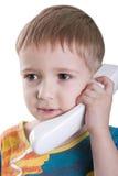 Child with telephone Stock Image