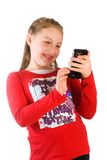 Child Texting Stock Image