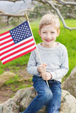 Child at 4th of july Stock Images