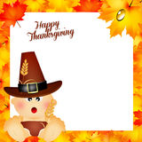 Child for Thanksgiving Royalty Free Stock Images