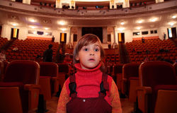 Child in theater Royalty Free Stock Photography