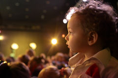 Child in the theater Stock Photos