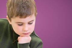 Child Thinking Royalty Free Stock Photo