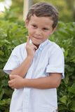 Child thinking Royalty Free Stock Images
