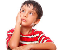 Child thinking stock photography