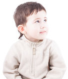 Child thinking and looking away Royalty Free Stock Photography