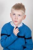 Child thinking Royalty Free Stock Image