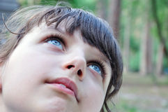 Child thoughtful Royalty Free Stock Images