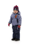 Child of three in winter clothes Stock Photography