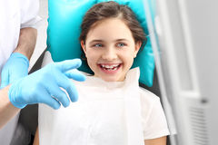 Child to the dentist Stock Images