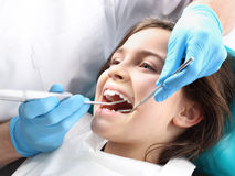 Child to the dentist Royalty Free Stock Photos