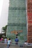 The child to practice climbing in SHENZHEN Shekou garden city Stock Photo