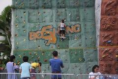 The child to practice climbing in SHENZHEN Shekou garden city Stock Photography
