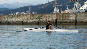Child to rowing course Royalty Free Stock Images