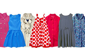 Child toddler clothes set isolated. Stock Images