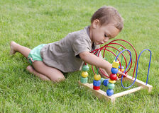 Child toddler playing Stock Images