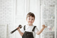 Child with tool Stock Photo