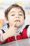 Child without a tooth Royalty Free Stock Photos