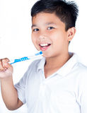 Child with tooth brush Royalty Free Stock Photo