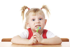 Child with toothbrush Royalty Free Stock Photography