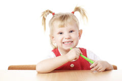 Child with toothbrush Royalty Free Stock Photos