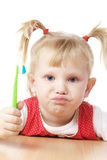 Child with toothbrush Stock Photo