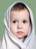 Child in towel Stock Image
