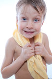 Child with towel Royalty Free Stock Photo
